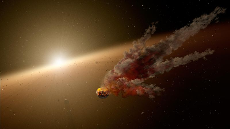 Ilustracija drevnog meteora. Izvor: NASA/JPL/Caltech