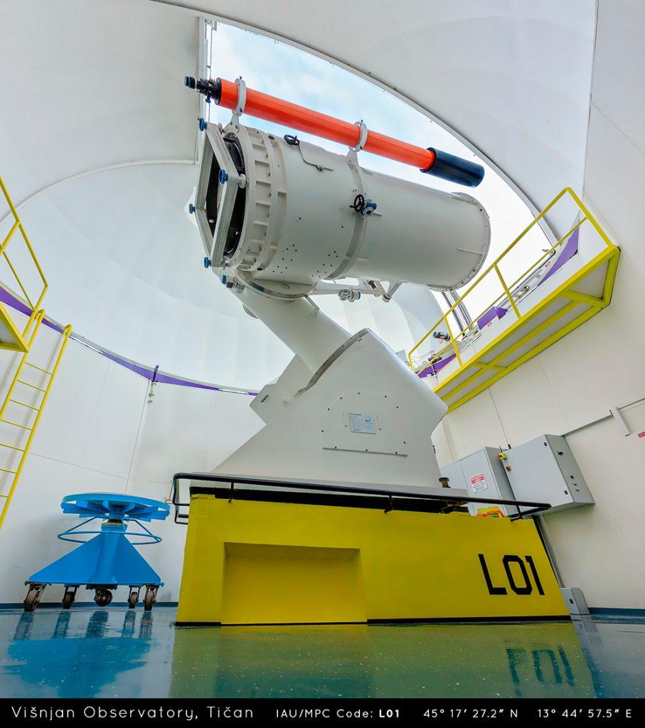 Teleskop Tičan Zvjezdarnice Višnjan. Izvor: Croatiaweek.com