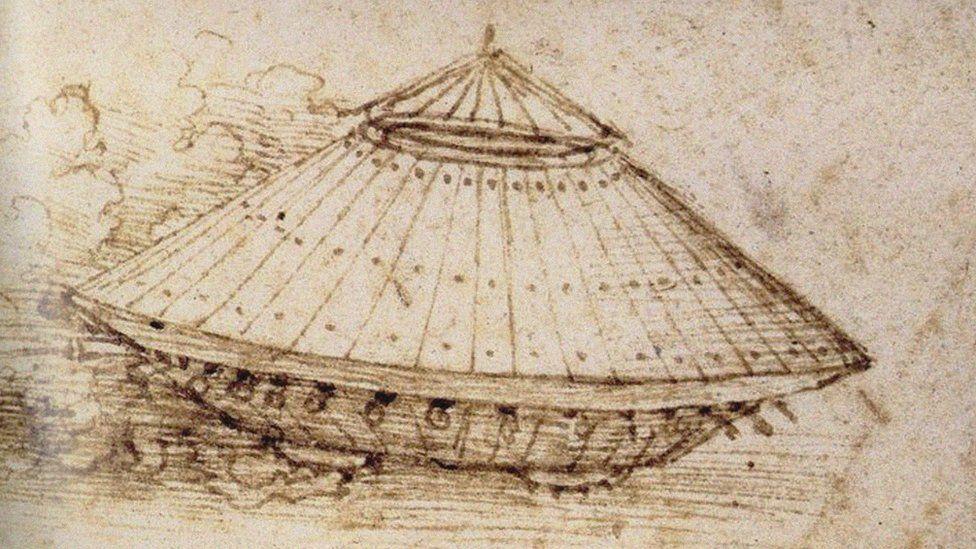 Da Vincijev helikopter. Izvor: Wikimedia Commons