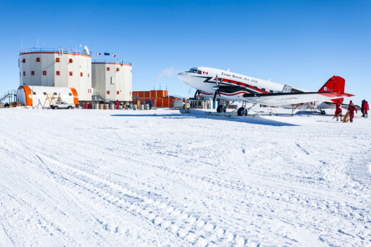 Stanica Concordia na Antarktici. Izvor: encyclopedie-environnement.org