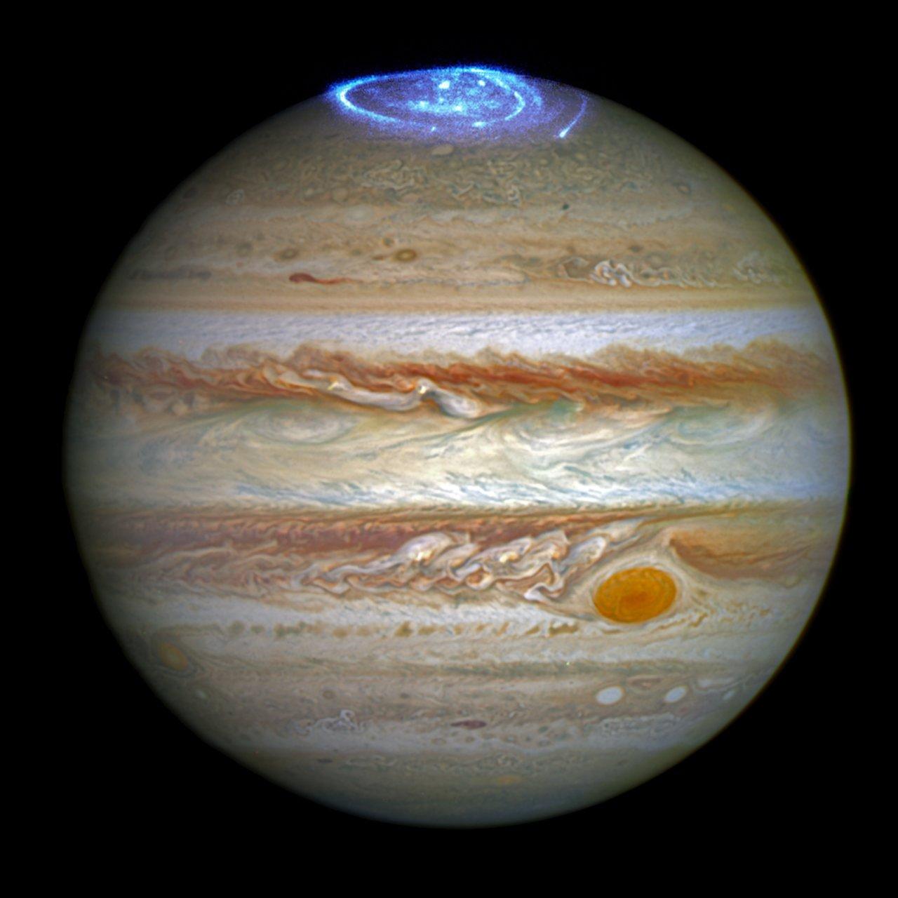 Jupiterove aurore. Izvor: ESA / Hubble