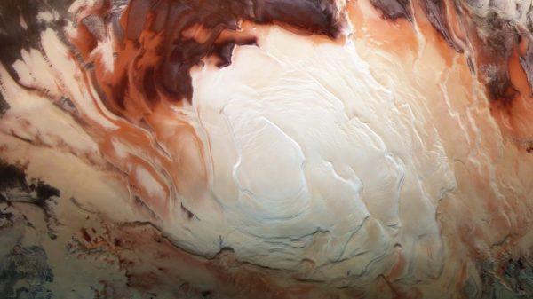 Marsov južni pol. Izvor: Nasa.gov