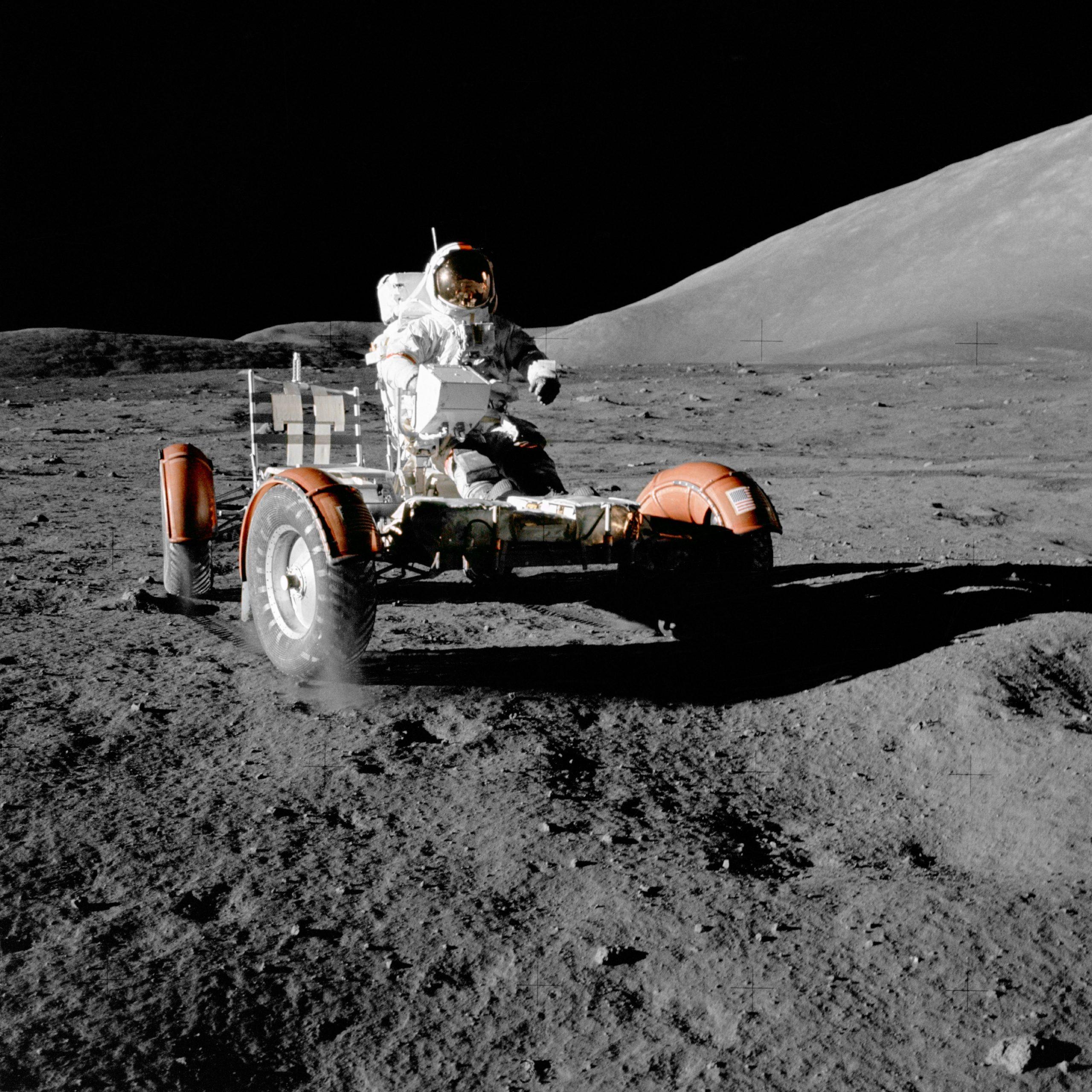 Misija Apollo 17, prosinac 1972., posljednji put kad su ljudi stupili na Mjesec. Izvor: Wikimedia Commons.