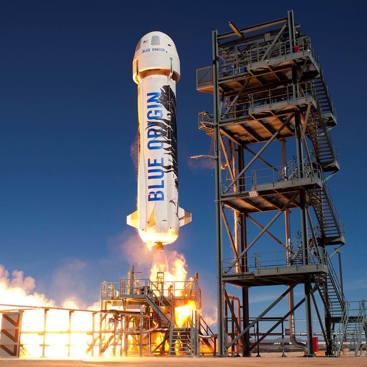 Raketa Blue Origin-a. Izvor: barrons.com.