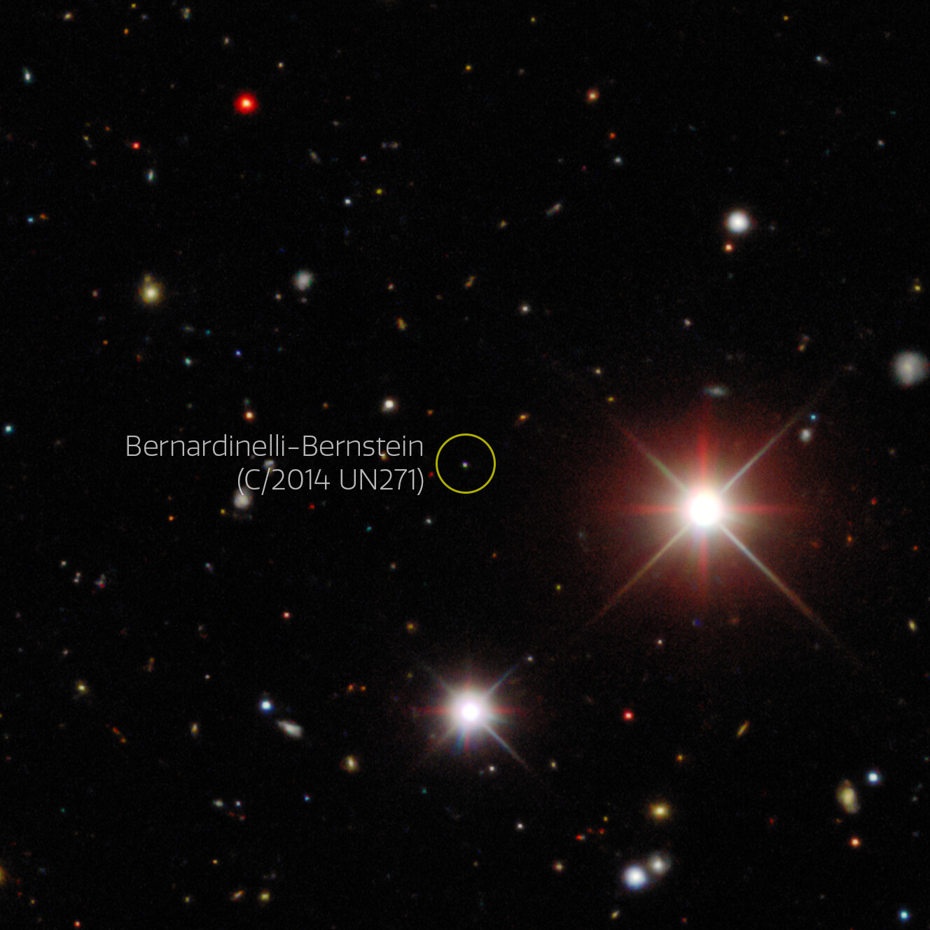 Komet Bernardinelli-Bernstein. Izvor: Wikimedia Commons.