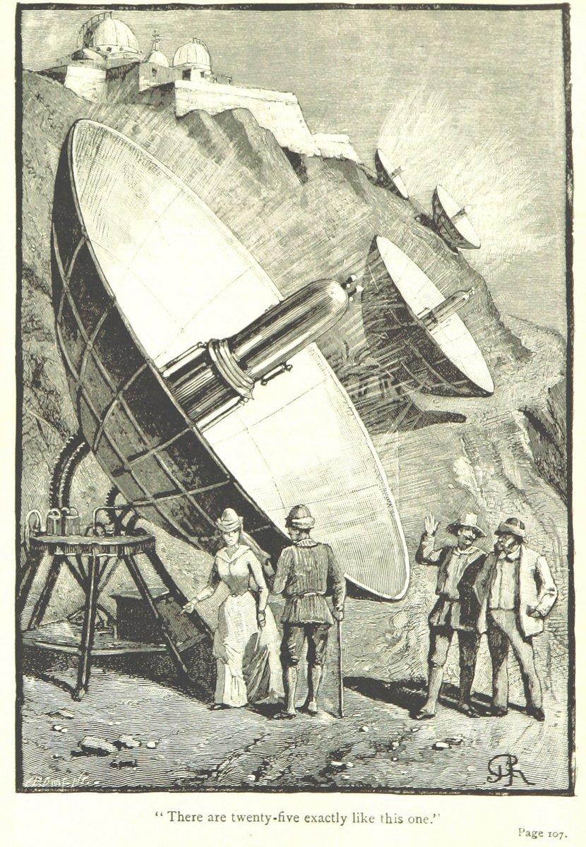 """Ilustracija iz """"Pohod na Mjesec"""" (1889.), autora André Laurie. Izvor: Wikimedia Commons."""