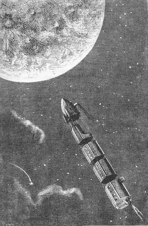 """""""Od Mjeseca do Zemlje"""" (1865.), Jules Verne. Izvor: Wikimedia Commons."""