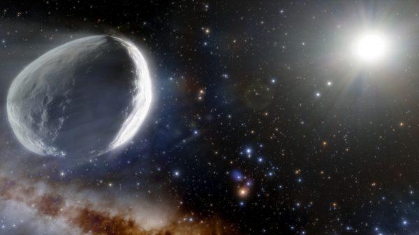 Umjetnička ilustracija kometa Bernardinelli-Bernstein. Izvor: Wikimedia Commons.