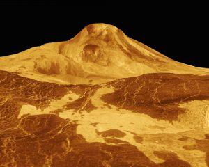 Vulkan Maat mons na veneri