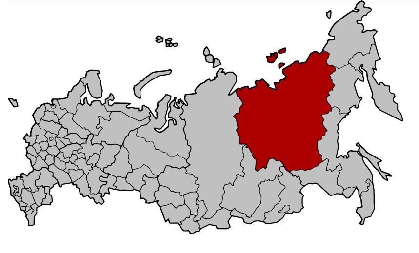 Jakutija ili Saha (ruski: Яку́тия, Саха, jakutski: Саха) je republika u Ruskoj Federaciji smještena na ruskom Dalekom Istoku. Izvor: Wikimedia Commons.