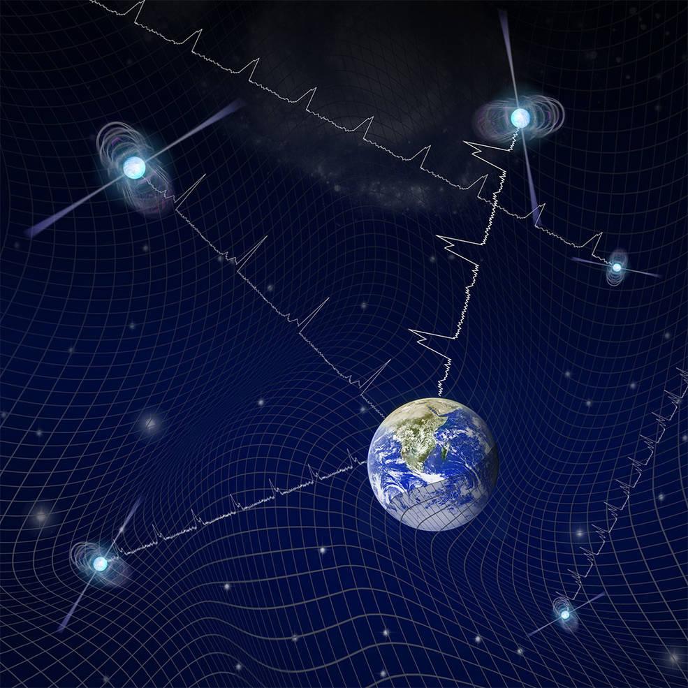 Gravitacijski valovi. Izvor: Nasa.gov.