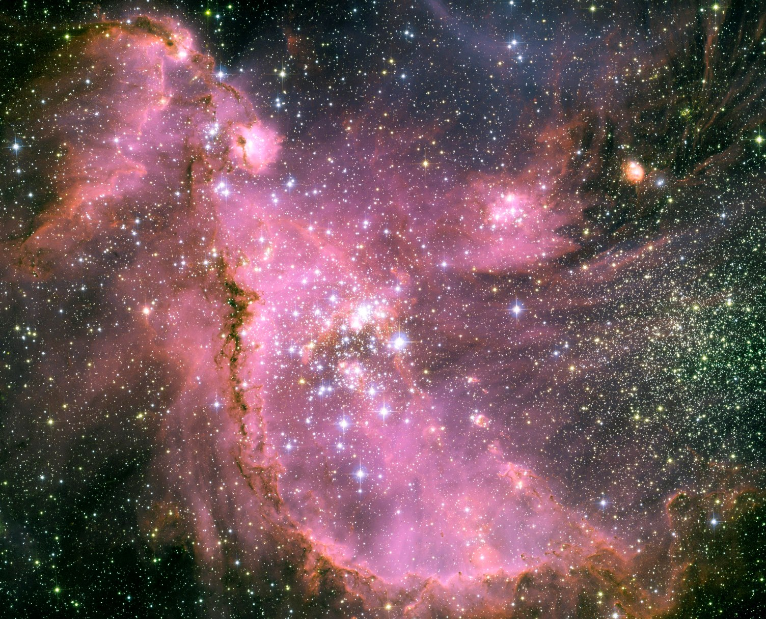 Novoformirane zvijezde. Izvor: Nasa.gov.
