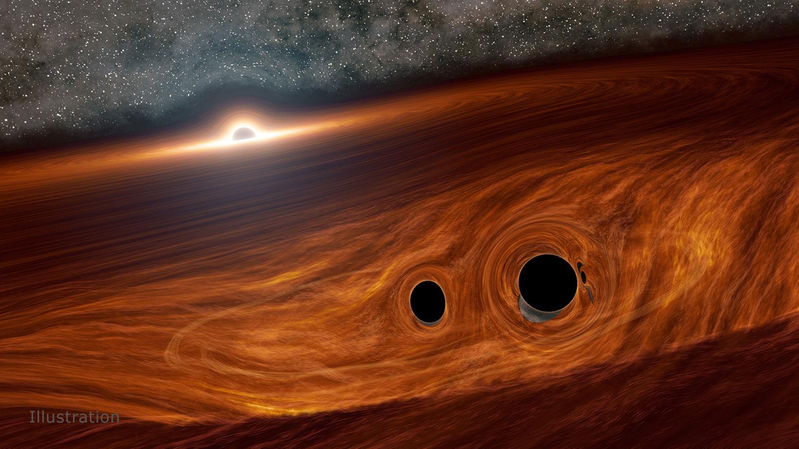 Supermasivna crna rupa okružena velikim oblacima plina i svemirske prašine. Izvor: Caltech/R. Hurt (IPAC).
