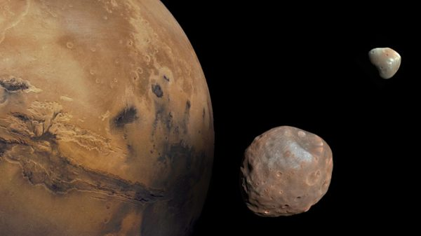 Mars i njegovi prirodni sateliti Fobos i Deimos. Izvor: TOKYO INSTITUTE OF TECHNOLOGY
