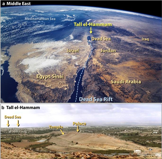 Potez od Sinaja i Arabije, preko doline Jordana i Izraela, sve do Mrtvog mora. Izvor: Nasa.gov.