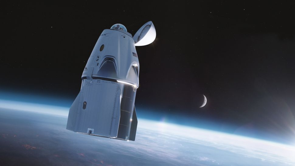 Umjetnička ilustracija kapsule Dragon. Izvor: SpaceX.