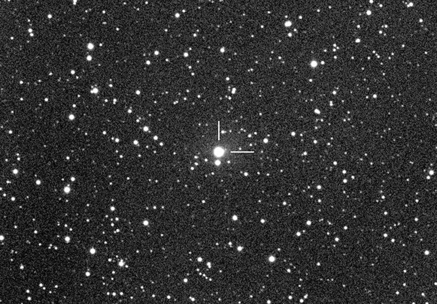 Bljesak na 29P-u. Izvor: Martin Mobberley / Skyandtelescope.org.