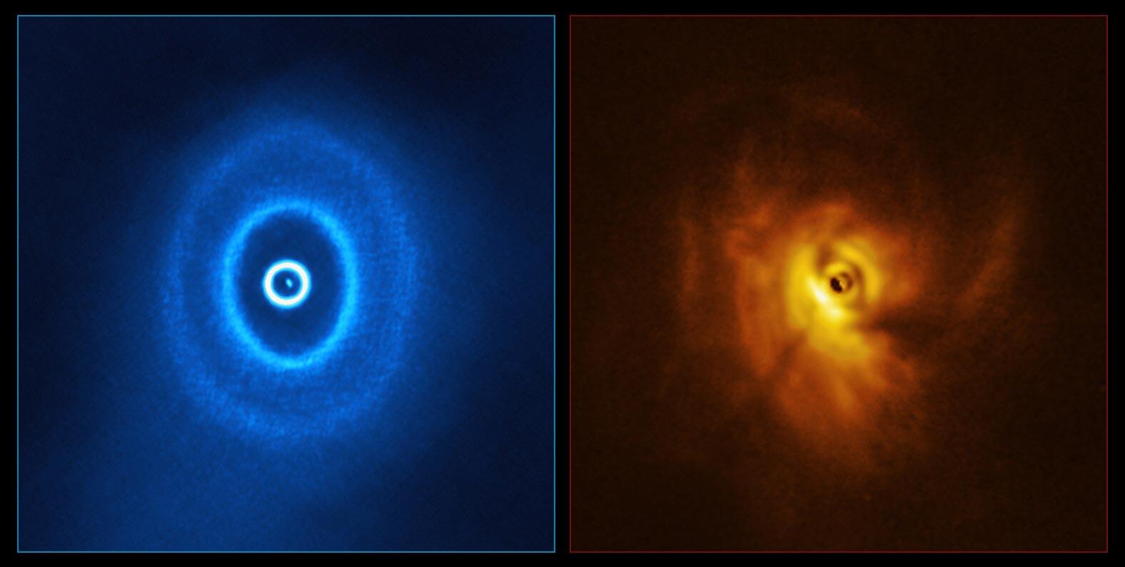 GW Orionis. ALMA (ESO/NAOJ/NRAO), ESO/Exeter/Kraus et al.